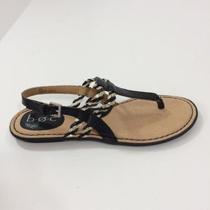 New b.o.c Black Strap Sandals 8